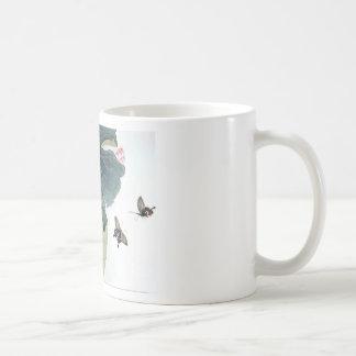 Asian Lotus Leaf Pink Flower Butterfly Art Cool Coffee Mug