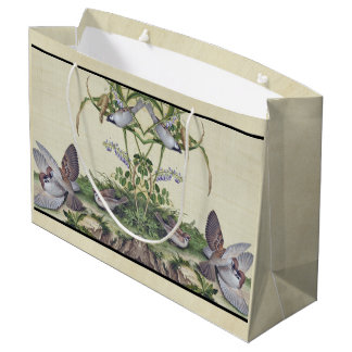 Asian Love Birds Wildflower Flowers Grains Bag