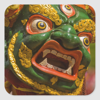 Asian Masked Dancer Square Sticker