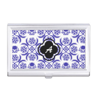 Asian/Middle Eastern pattern (Blue) Business Card Holder