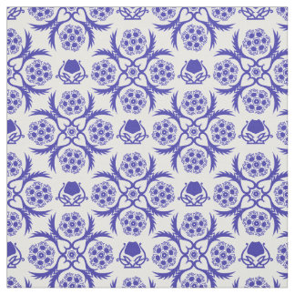Asian/Middle Eastern pattern (Blue) Fabric