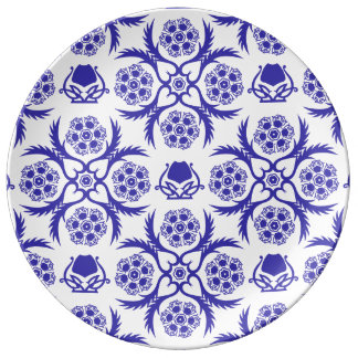 Asian/Middle Eastern pattern (Blue) Porcelain Plate