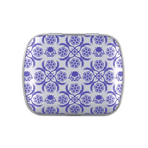 Asian/Middle Eastern pattern (Blue) Jelly Belly Candy Tin