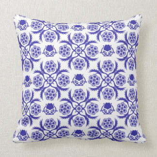 Asian/Middle Eastern pattern (Blue) Throw Pillow
