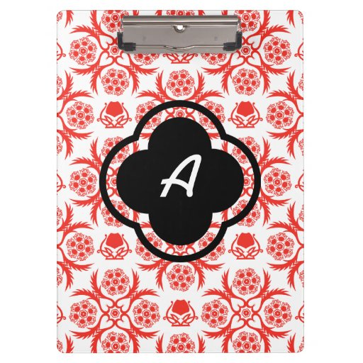 Asian/Middle Eastern pattern (Red) Clipboard