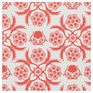 Asian/Middle Eastern pattern (Red) Fabric