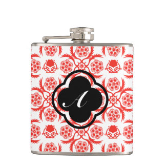 Asian/Middle Eastern pattern (Red) Hip Flask