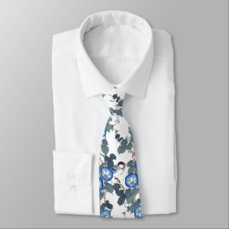 Asian Morning Glory Flowers Birds Animals Tie