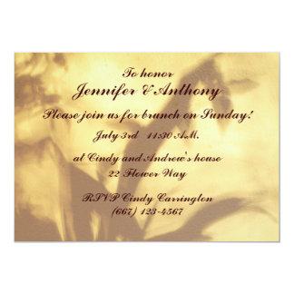 Asian Motif Wedding Brunch 5x7 Paper Invitation Card