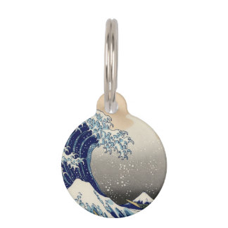 Asian Ocean Great Wave off Kanagawa Pet ID Tag