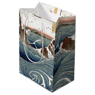 Asian Ocean Waves Sea Rocks Gift Bag