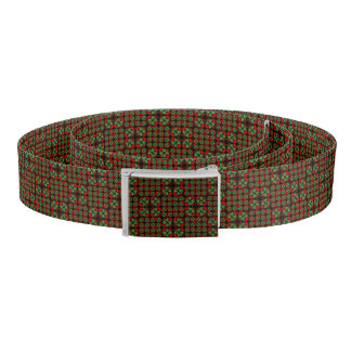 Asian Ornate Patchwork Pattern Belt