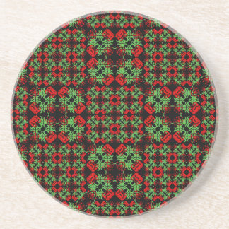 Asian Ornate Patchwork Pattern Coaster