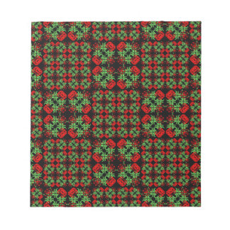 Asian Ornate Patchwork Pattern Notepad
