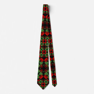 Asian Ornate Patchwork Pattern Tie