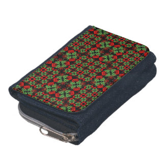 Asian Ornate Patchwork Pattern Wallet