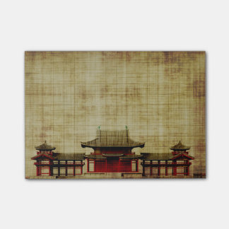 Asian Palace on Parchment Post-it Notes