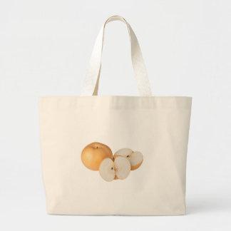 Asian pear jumbo tote bag