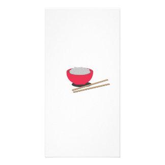 Asian rice photo card