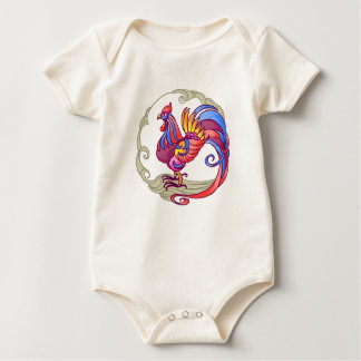 Asian Rooster Baby Bodysuit