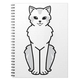 Asian Semi-Longhair Cat Cartoon Note Books