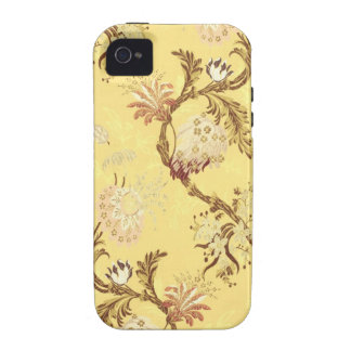 Asian silk screen yellow cold vintage lovely chic vibe iPhone 4 case