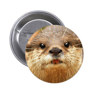 Asian Small Clawed Otter 6 Cm Round Badge