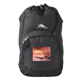 Asian steps to the sun - 3D render Backpack