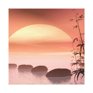 Asian steps to the sun - 3D render Canvas Print