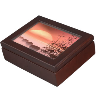 Asian steps to the sun - 3D render Keepsake Box