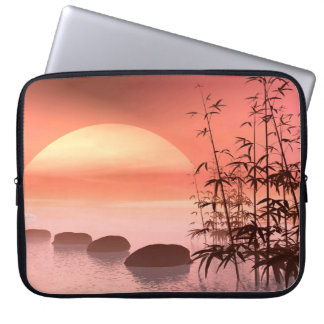 Asian steps to the sun - 3D render Laptop Sleeve
