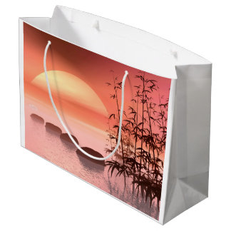 Asian steps to the sun - 3D render Large Gift Bag