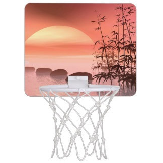Asian steps to the sun - 3D render Mini Basketball Hoop