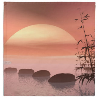 Asian steps to the sun - 3D render Napkin