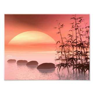 Asian steps to the sun - 3D render Photo Print
