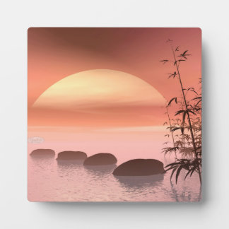 Asian steps to the sun - 3D render Plaque