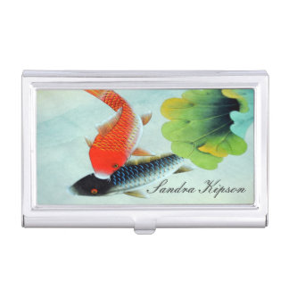 Asian Style Koi Fish Business Card Holder