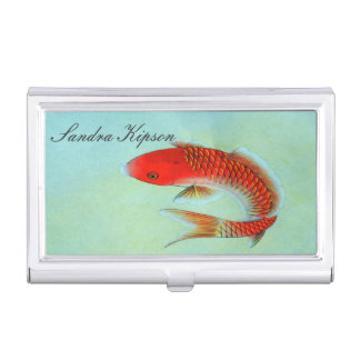 Asian Style Koi Fish Business Card Holder
