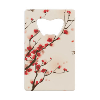 Asian Style Painting, Plum Blossom in Spring
