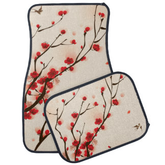 Asian Style Painting, Plum Blossom in Spring Car Mat