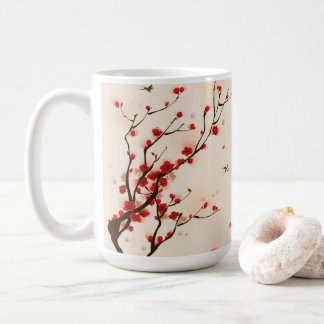 Asian Style Painting, Plum Blossom in Spring Coffee Mug