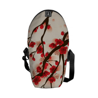 Asian Style Painting, Plum Blossom in Spring Commuter Bags