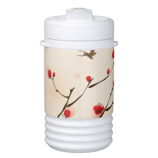 Asian Style Painting, Plum Blossom in Spring Cooler
