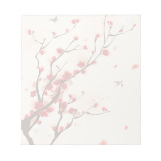 Asian Style Painting, Plum Blossom in Spring Notepad
