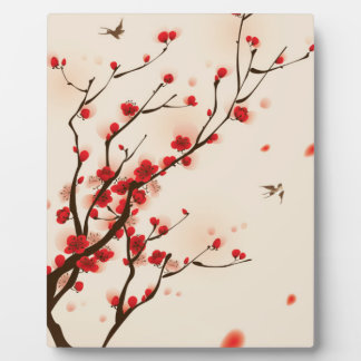 Asian Style Painting, Plum Blossom in Spring Plaque
