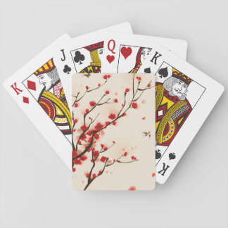Asian Style Painting, Plum Blossom in Spring Poker Deck