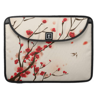 Asian Style Painting, Plum Blossom in Spring Sleeve For MacBooks