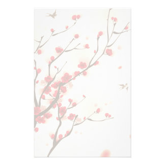 Asian Style Painting, Plum Blossom in Spring Stationery