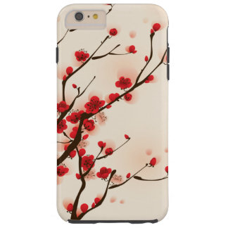Asian Style Painting, Plum Blossom in Spring Tough iPhone 6 Plus Case
