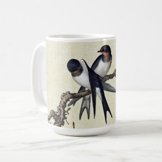 Asian Swift Birds Wildlife Flower Blossoms Mug